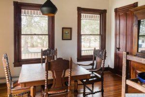 bungalow, dining room, large windows, wood floors, wood moulding, nicole vidor, real estate, realtor